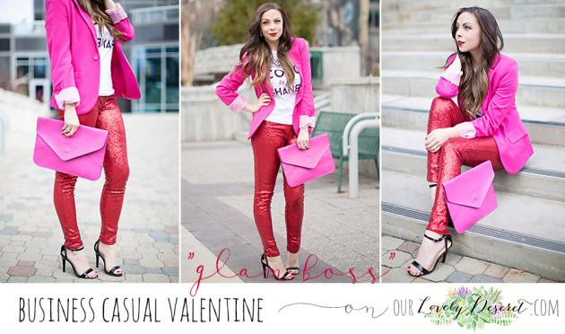 "Glam Boss"" A Business Casual Valentine's Look - Modest Godde"