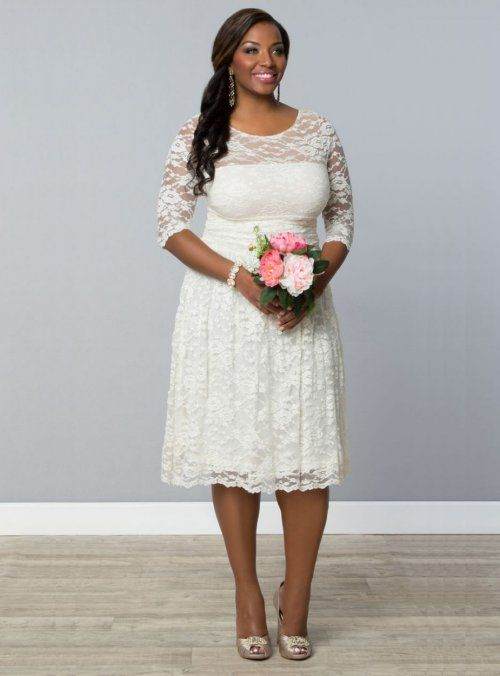 7 Gorgeous Short Plus Size Summer Wedding Dresses | Knee length .