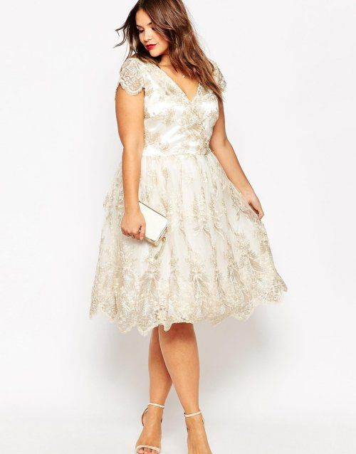 7 Gorgeous Short Plus Size Summer Wedding Dresses | Wedding .