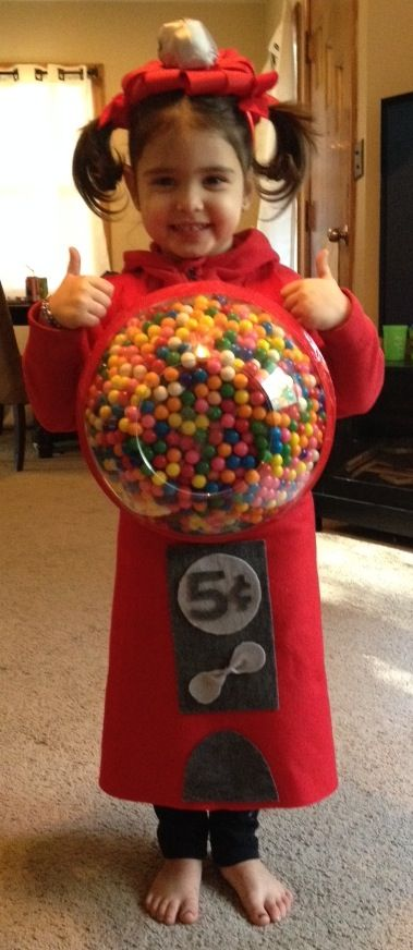 Gumball machine Halloween costume! Adorable! Made with real .