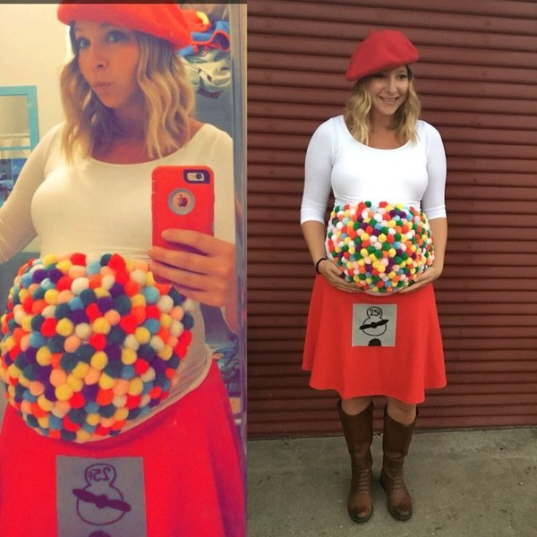 Gumball Machine Costume - Easy Maternity Halloween Costumes to .