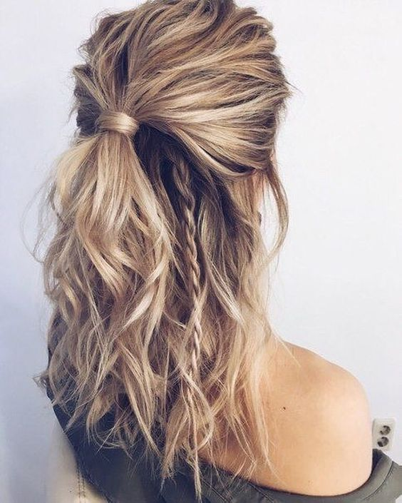 Beautiful Easy Half up-Half down Hairstyles for Your Perfect .