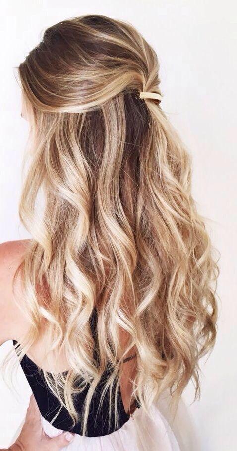 balayage half up half down curly hair #gorgeoushair | Down .