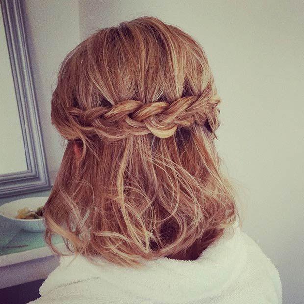 26 Stunning Half Up, Half Down Hairstyles | StayGlam | Prom .
