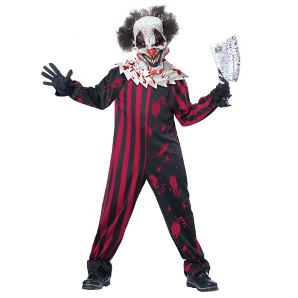 Kids Killer Klown Boys Horror Halloween Costume - Walmart.com .