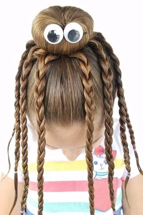 8 Fun & Unique Halloween Hairstyle Ideas For Kids | Wacky hair .