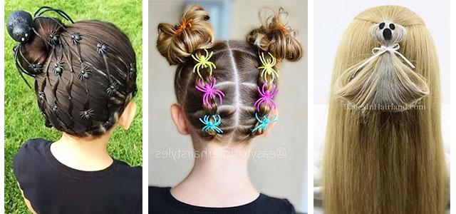 Halloween Hairstyles For Kids & Girls 2019 | Hair Ideas | Modern .