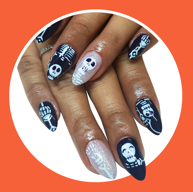 50 Non-Cheesy Halloween Nail Art Ideas To T