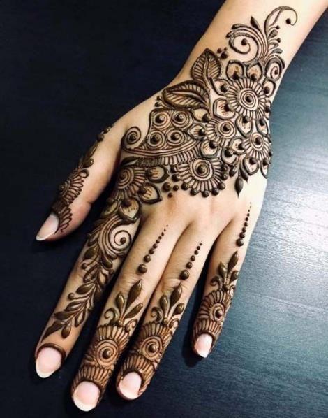 Wedding Henna Tattoo Designs for Brides on Hand 15012019 (10 .