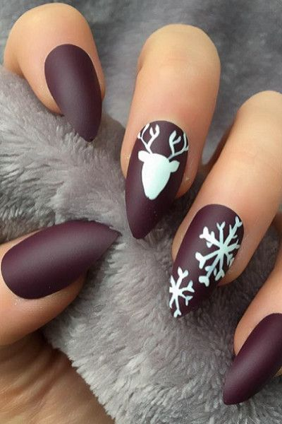 Holiday Party Nail Inspiration | Christmas nail designs, Xmas .