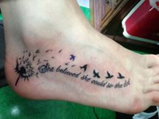 40 Inspirational Quote Tattoos For Girls | Foot tattoos, Quote .