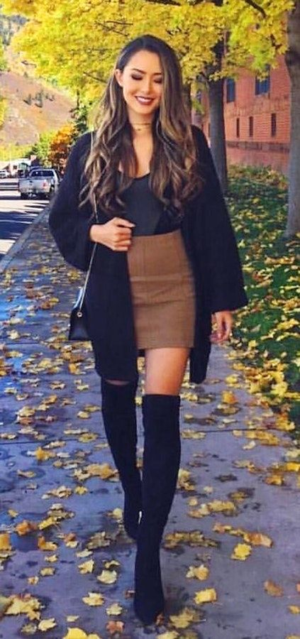 25 Knee High Boots Outfits for Winter Ideas to Copy Right Now .