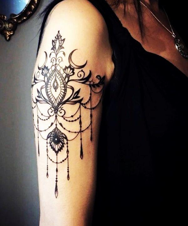 101 Tasteful Lace Tattoos Designs and Ideas | Lace tattoo design .