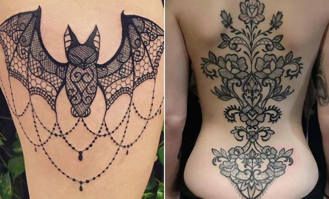 21 Stunning Lace Tattoo Ideas for Women | StayGl