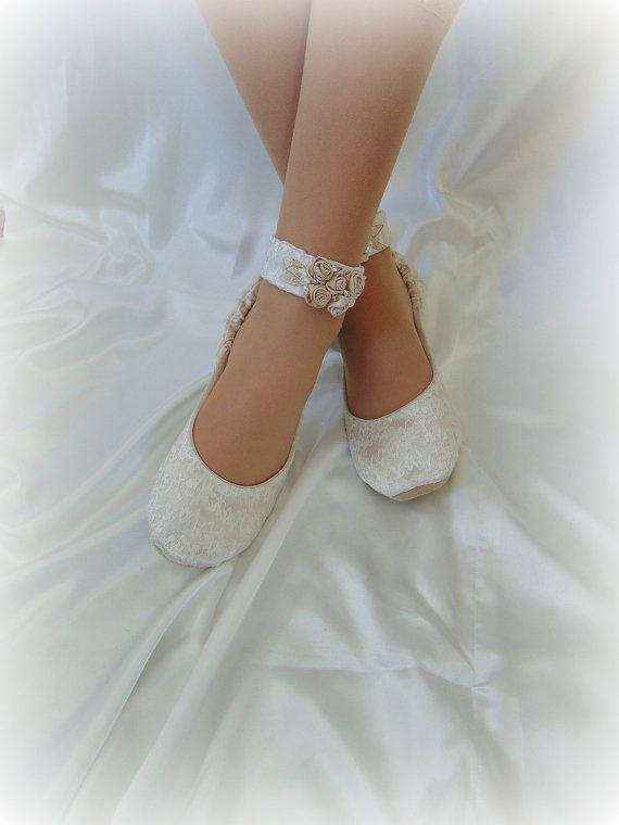 Champagne Lace Bridal Ballet ShoeBallerina Lace Bridal | Wedding .