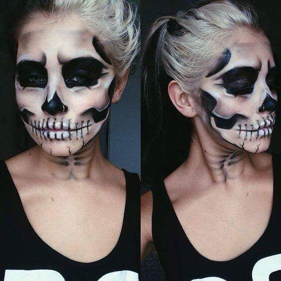 47 Latest Trending Halloween Ghost Makeup Ideas to Send Some .