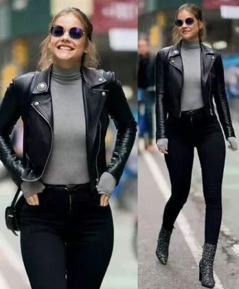 The 5 best leather jacket outfit ideas that you can copy now .