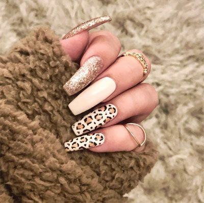 33 Leopard Nails Design Ideas to Try This Fall | Leopard nail .