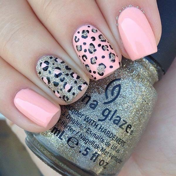 80 Classy Nail Art Designs for Short Nails Leopard Nail Design for .