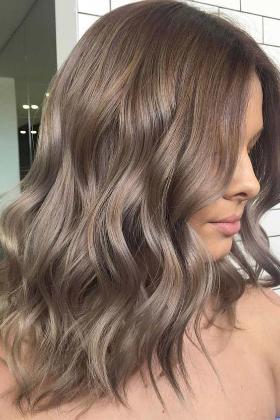 Ash brown hair colors, with their smoky and cool green, blue, and .