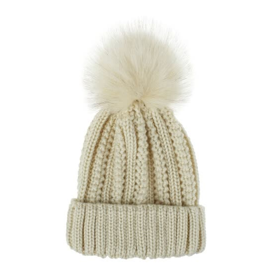 Shop Fashion Woman Winter Knnited Wool Cap Lovely Pompom Soft Warm .