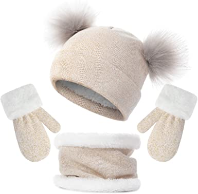 Amazon.com: Toddler Winter Hat Scarf Set for Infant Baby Girl .