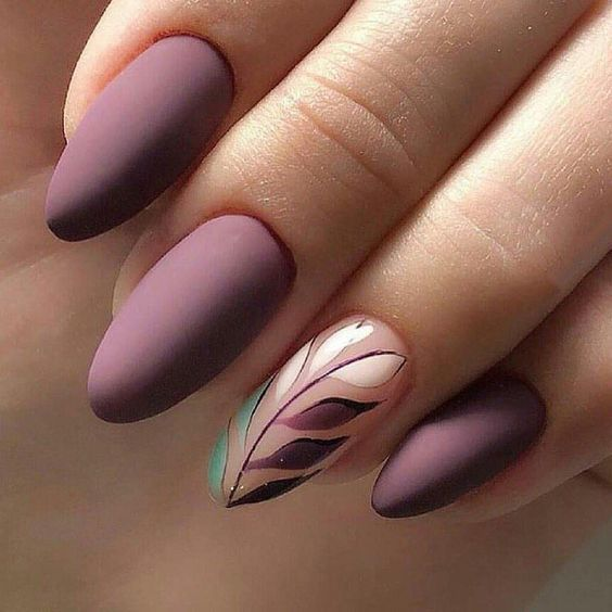 49 Trendy Almond Matte Nail Designs You'll Love | Lavender nails .
