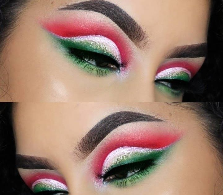 85 Mesmerizing Christmas Makeup Ideas To Leave The Beholder Red .