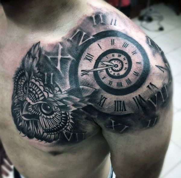 Top 80 Mind-Blowing Clock Tattoos [2020 Inspiration Guide]   Mens .