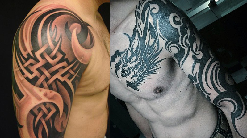9 Mind Blowing Tribal Shoulder Tattoos for M