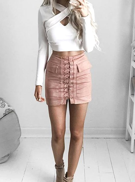 mini skirt outfit ideas > Factory Sto