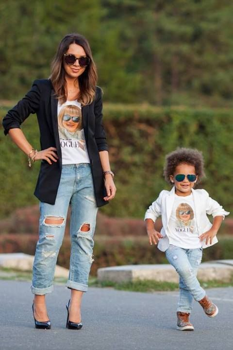 19 Adorable Mothers and Daughters Matching Outfit Ideas | Mother .