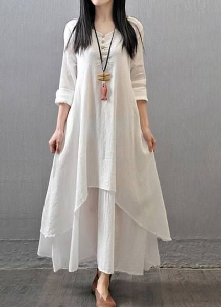 Most Popular white dress winter casual Ideas in 2020 | Linen maxi .