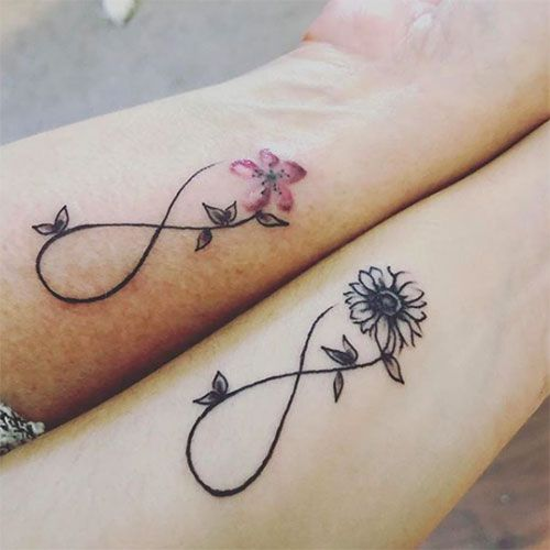 Mother and Daughter Infinity Tattoo Ideas - Best Matching Mother .