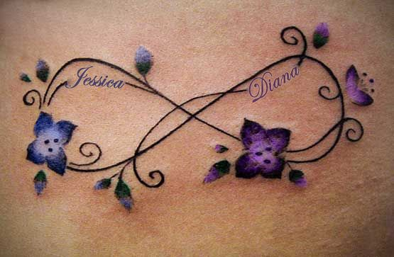 My version of a mother/daughter infinity tat. | Infinity tattoo .