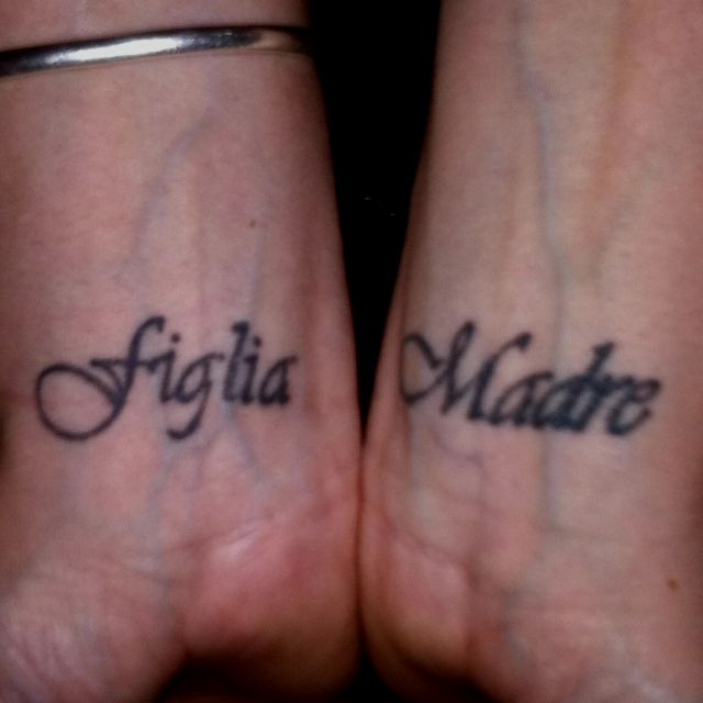 My newest tattoos, Mother & Daughter in Italian | Tattoos for .