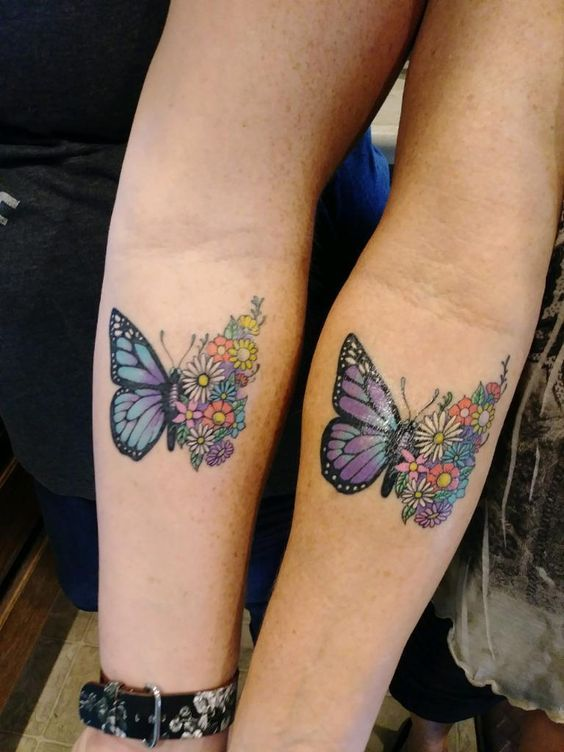 Hand Butterfly Mother Daughter Tattoo Design - Mother Daughter .