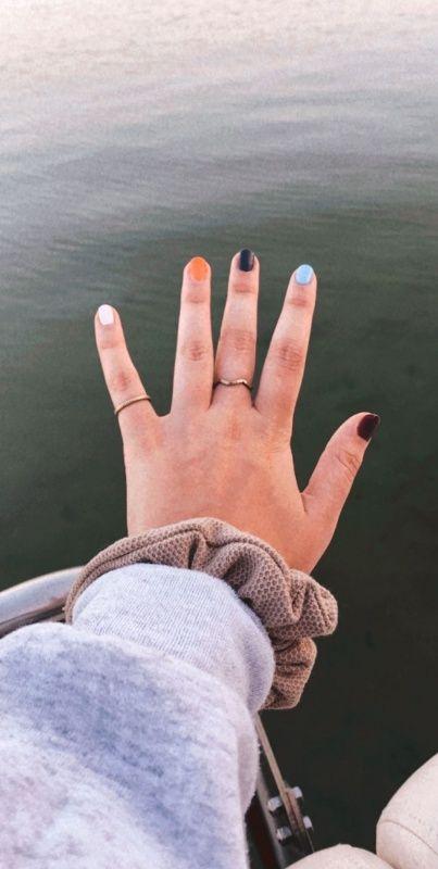 Multi Colored Nails gilliianrenee on VSCO   Multicolored nails .