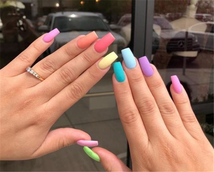 Stunning Rainbow Or Multicolored Nail Designs And Ideas For You In .