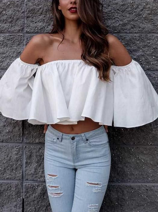 Women's Bohe Blouses-1220 – laddytopia | Loose crop tops outfits .