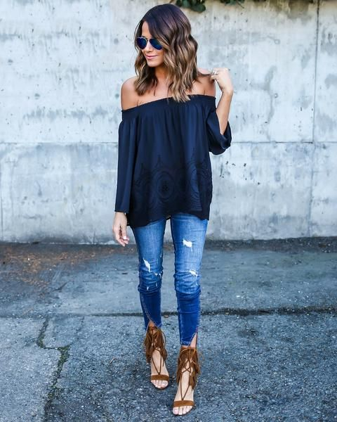 In Defense of Off-the-Shoulder Tops | Fashion, Casual outfits .