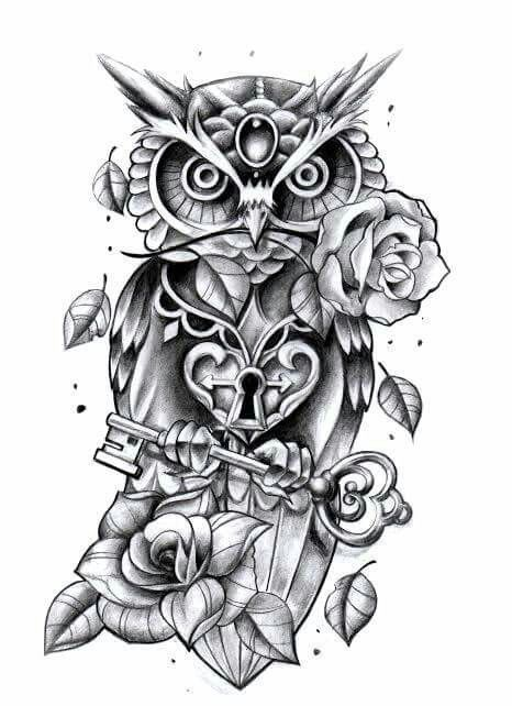 Chic Perfect +250 Owl Tattoo Design Ideas | Cute owl tattoo, Owl .