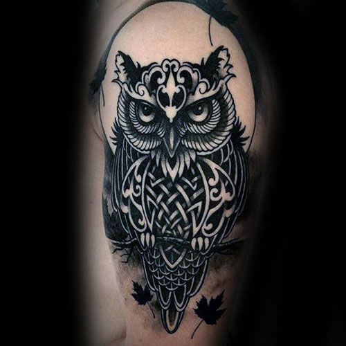 125 Best Owl Tattoos For Men: Cool Designs + Ideas (2020 Guide .