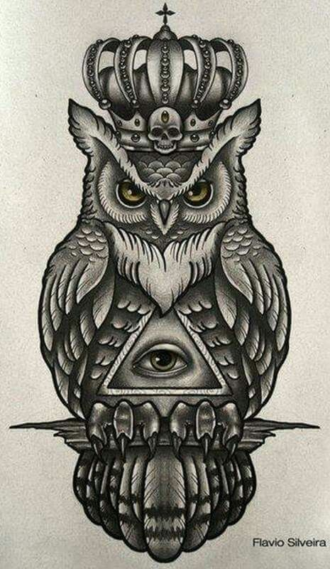 Chic Perfect +250 Owl Tattoo Design Ideas | Traditional owl .