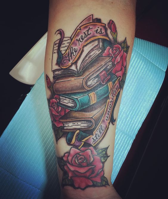 100+ Perfect Book Tattoos Every Book Lover Can Resonate With .