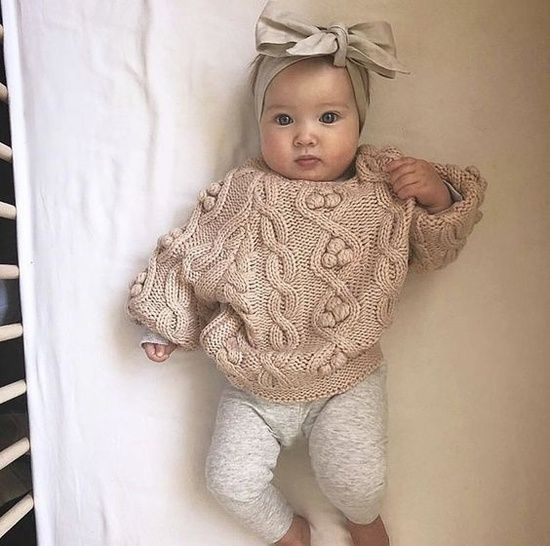 Baby girl sweater outfit idea. Perfect fall outfit for little ones .