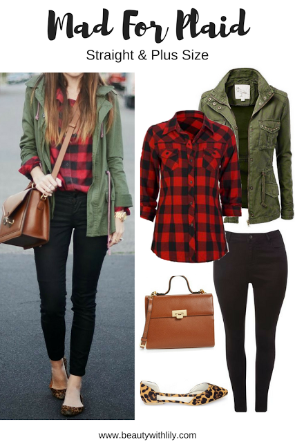 Fall Plaid Outfit Ideas | Regular & Plus Size | Plaid outfits .
