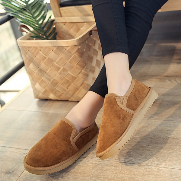 Buy Thick Plush Casual Ankle Boots Hot Sale Comfortable Light Lazy .
