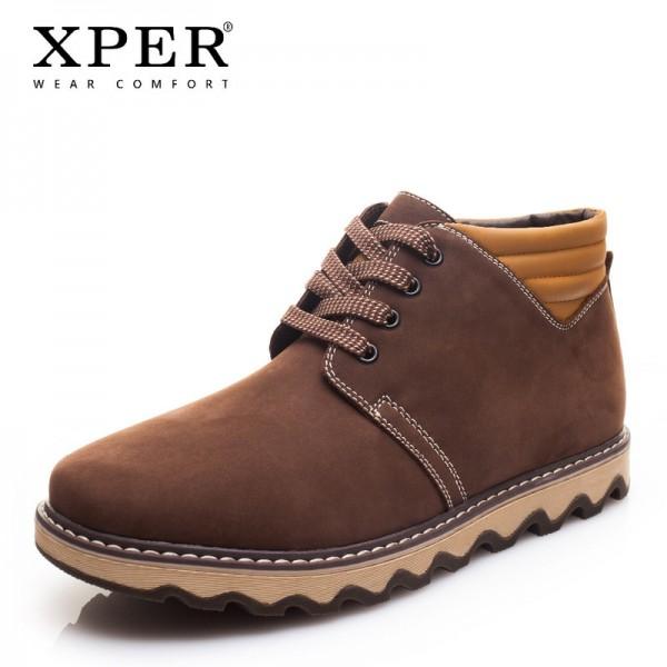 Buy New Genuine Leather Men Boots Fashion Warm Short Plush Men .