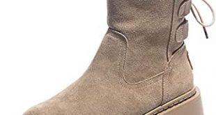Amazon.com | Winter Long Plush Ankle Boots for Women Rabbit Hair .